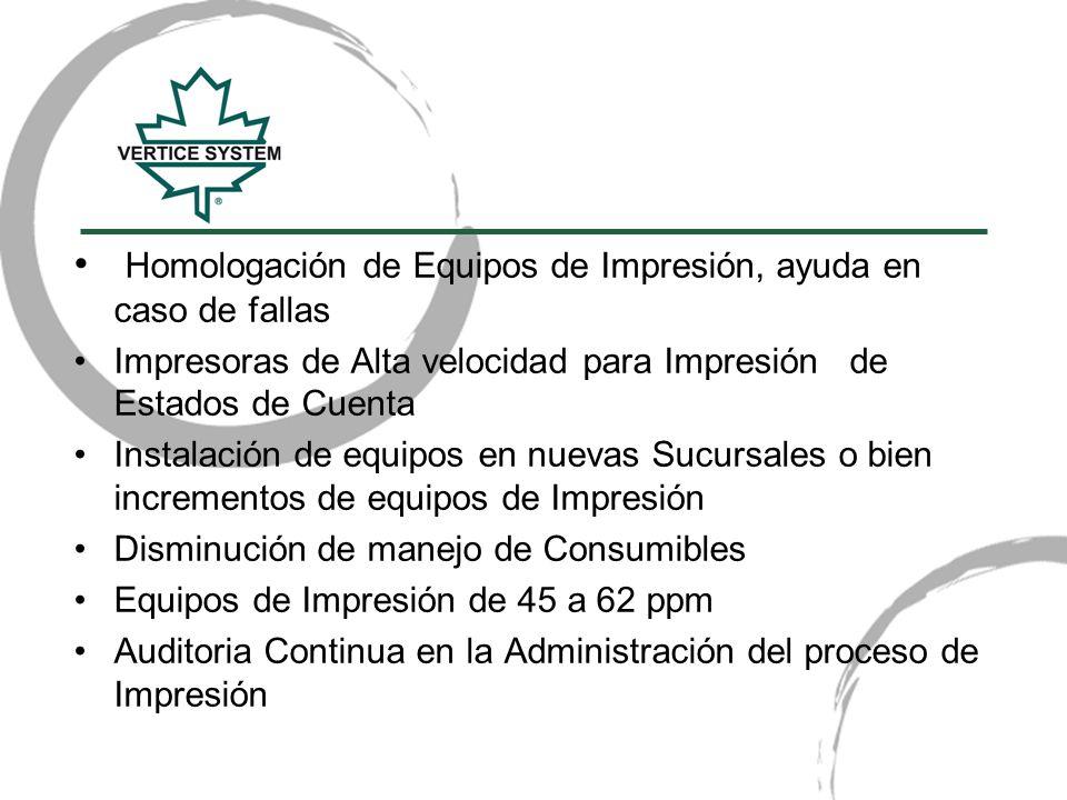 Homologación de Equipos de Impresión, ayuda en caso de fallas