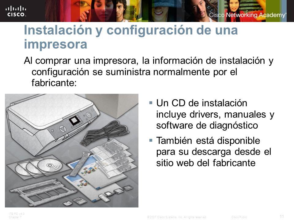 Instalación y configuración de una impresora