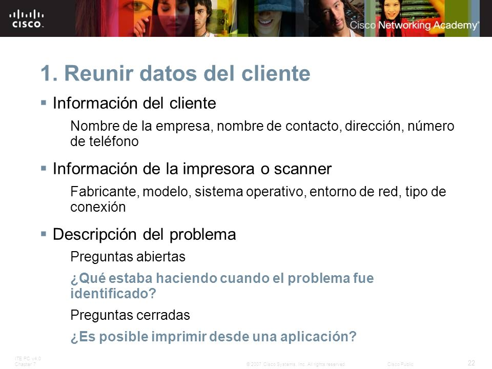 1. Reunir datos del cliente