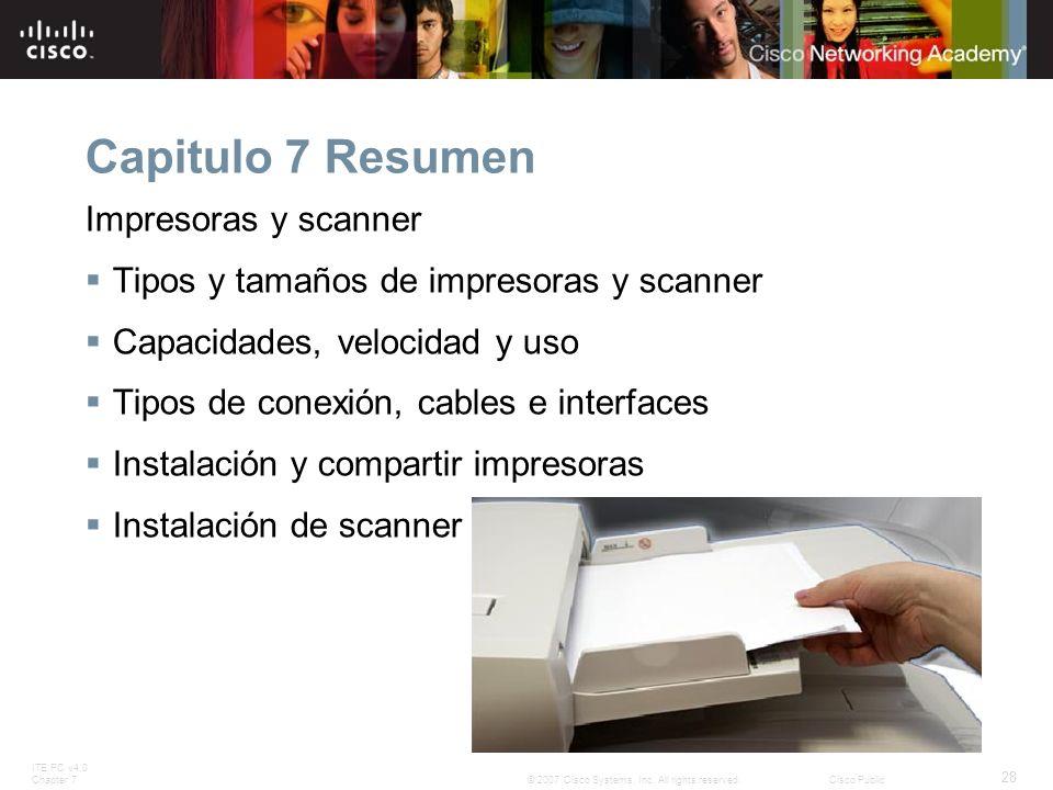Capitulo 7 Resumen Impresoras y scanner