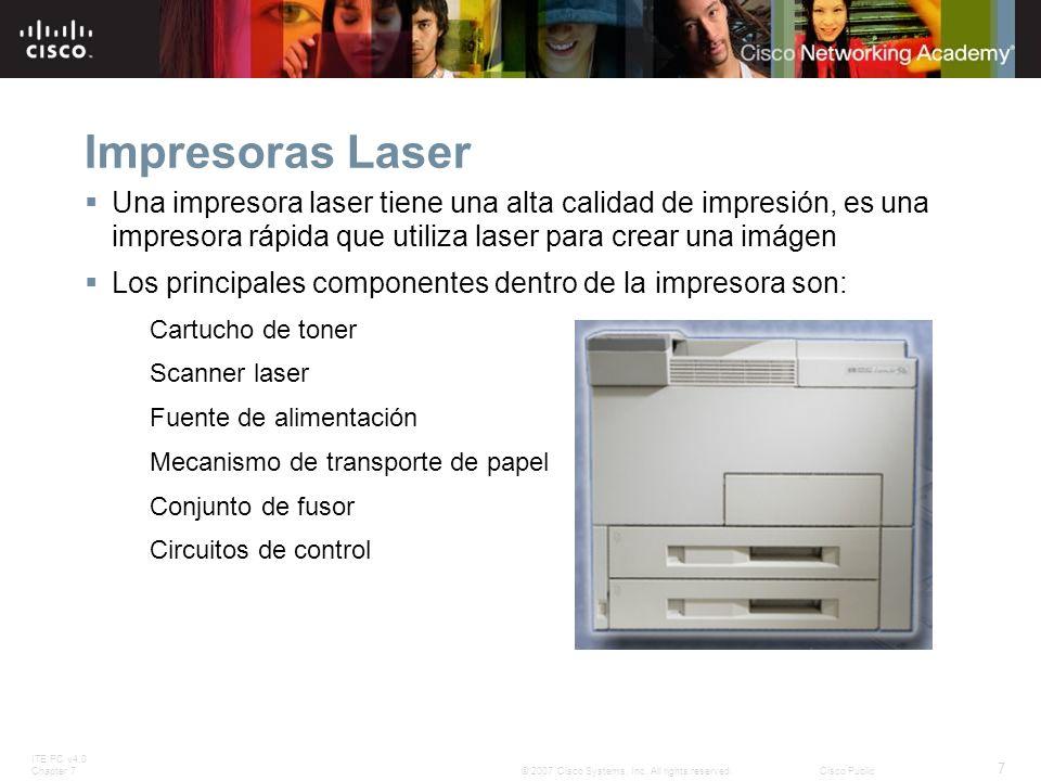 Impresoras Laser Una impresora laser tiene una alta calidad de impresión, es una impresora rápida que utiliza laser para crear una imágen.