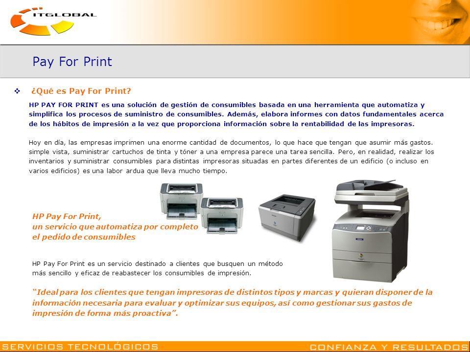 Pay For Print ¿Qué es Pay For Print HP Pay For Print,