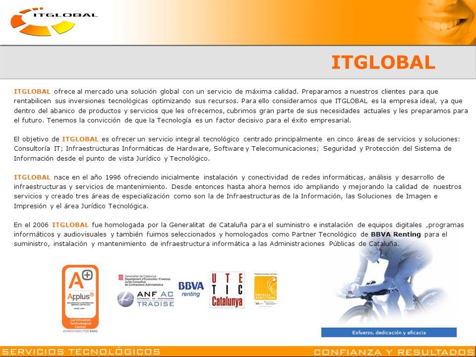 ITGLOBAL ITGLOBAL ofrece al mercado una solución global con un servicio de máxima calidad. Preparamos a nuestros clientes para que.
