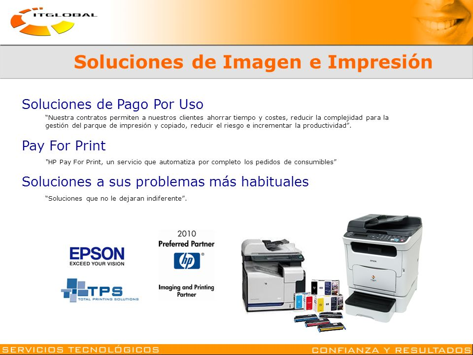 Soluciones de Imagen e Impresión