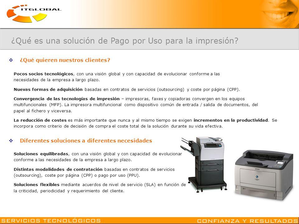 ¿Qué es una solución de Pago por Uso para la impresión