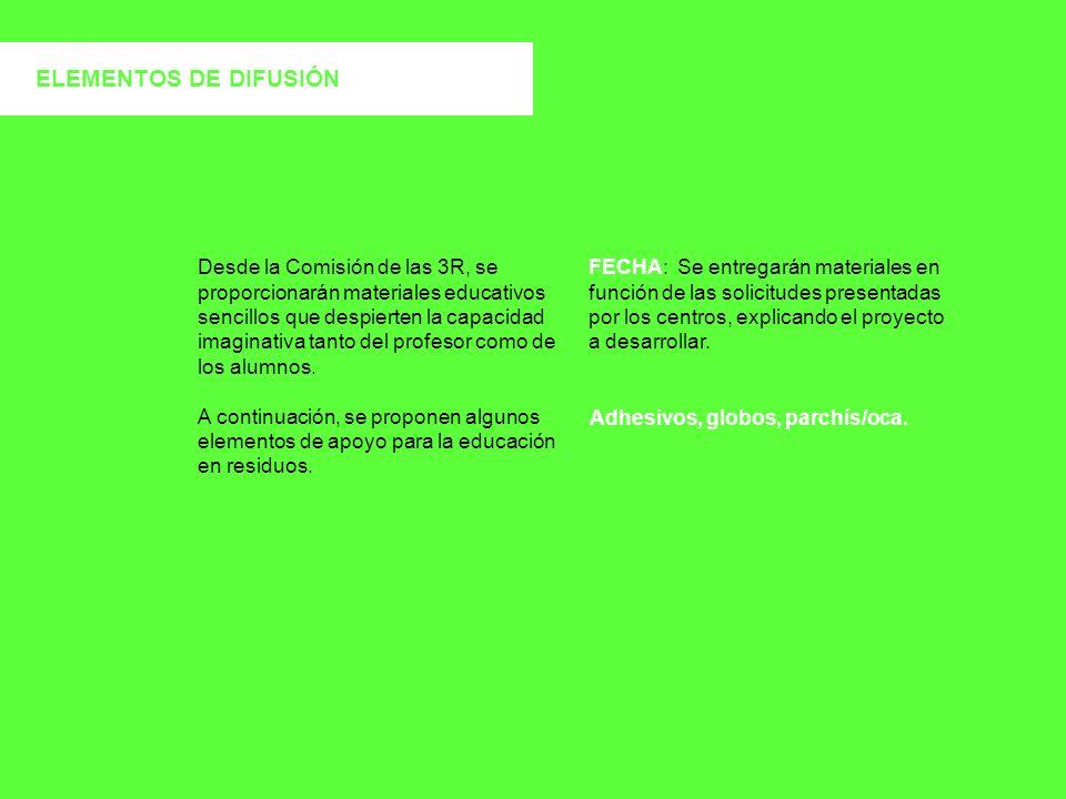ELEMENTOS DE DIFUSIÓN