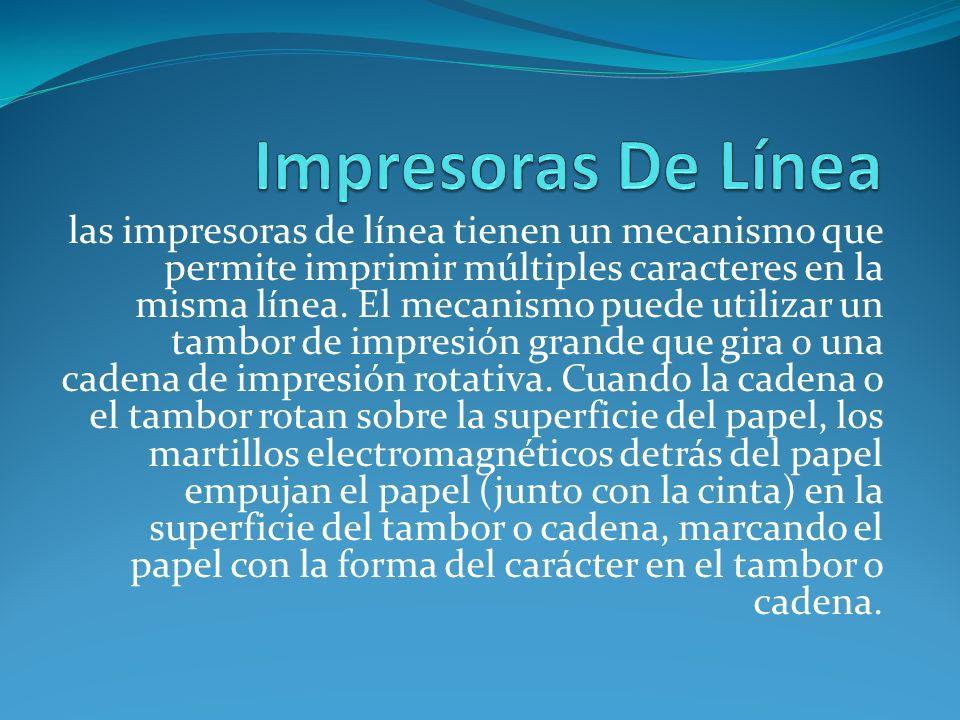 Impresoras De Línea