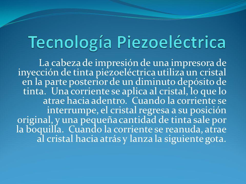 Tecnología Piezoeléctrica