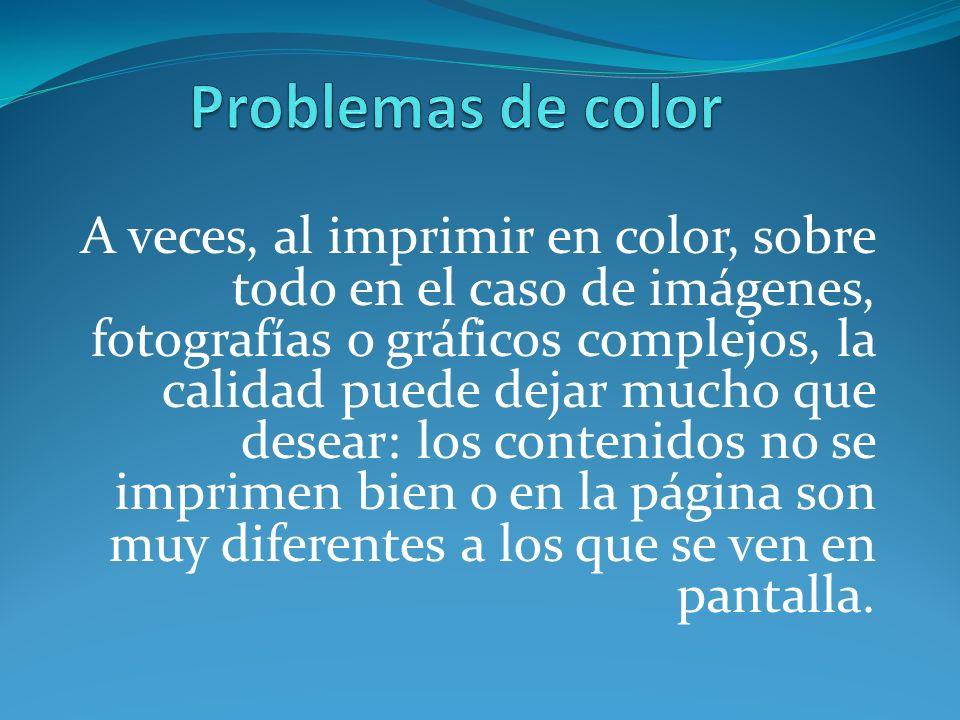 Problemas de color