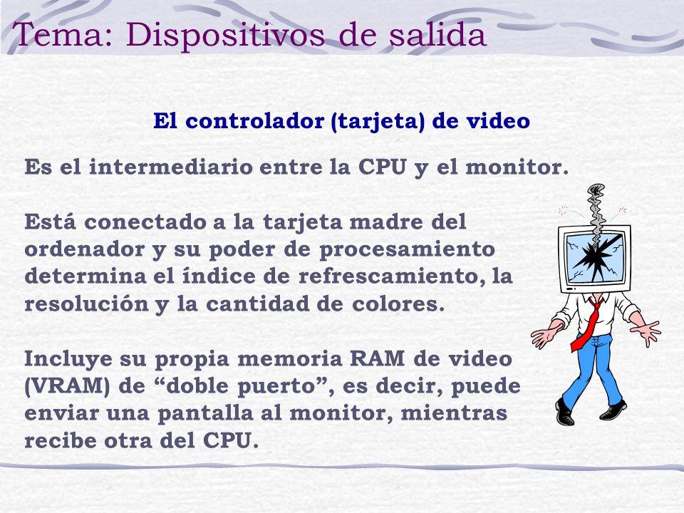 El controlador (tarjeta) de video