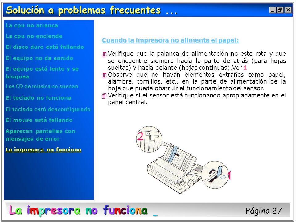 La impresora no funciona Página 27