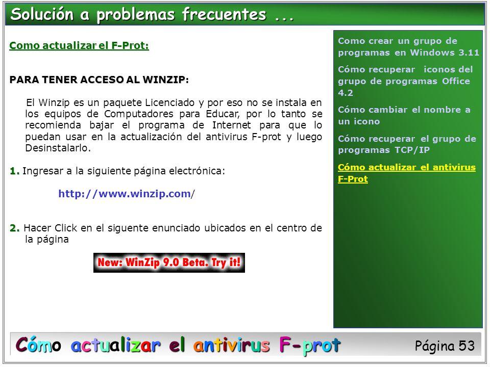 Cómo actualizar el antivirus F-prot Página 53