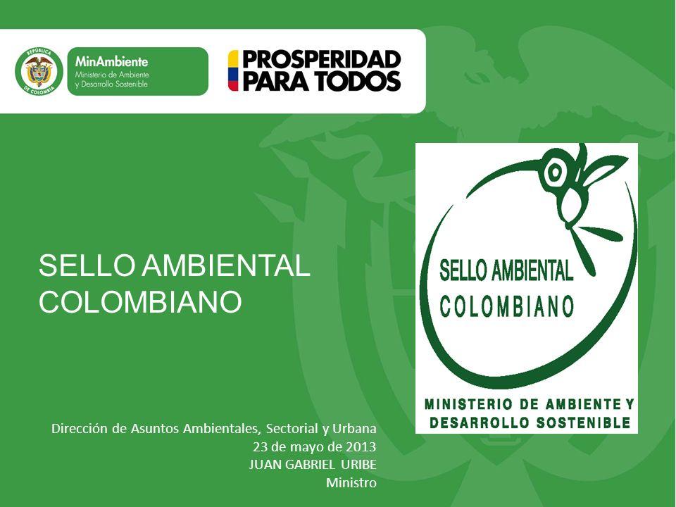 Título SELLO AMBIENTAL COLOMBIANO Subtítulo o texto necesario
