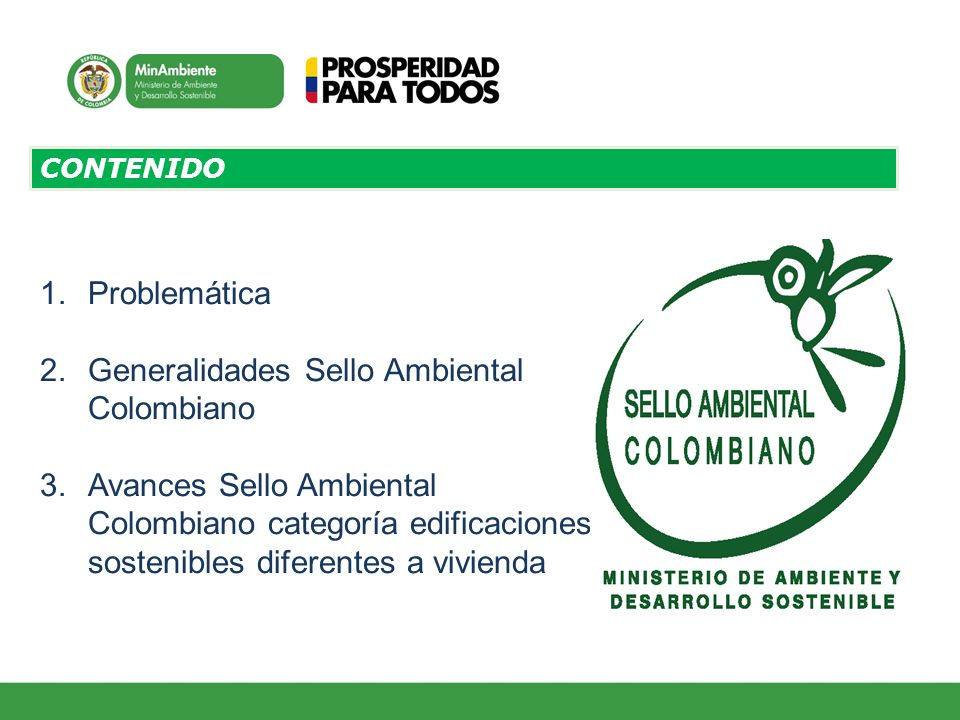 Generalidades Sello Ambiental Colombiano