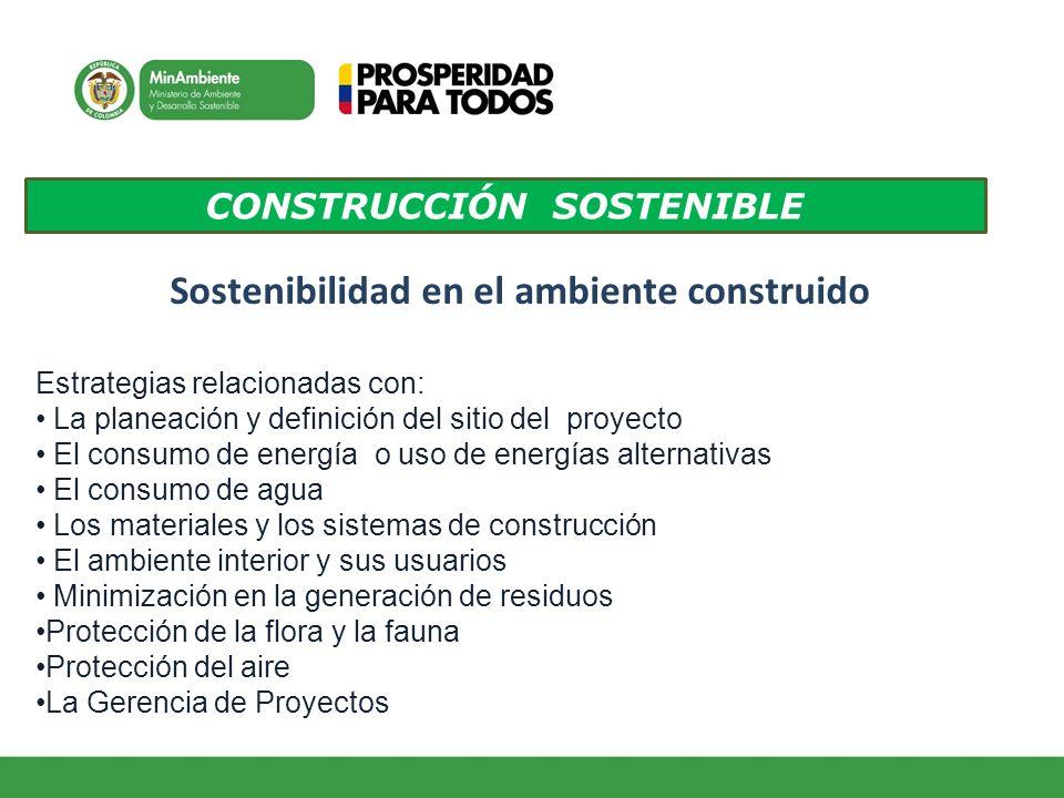 CONSTRUCCIÓN SOSTENIBLE Sostenibilidad en el ambiente construido