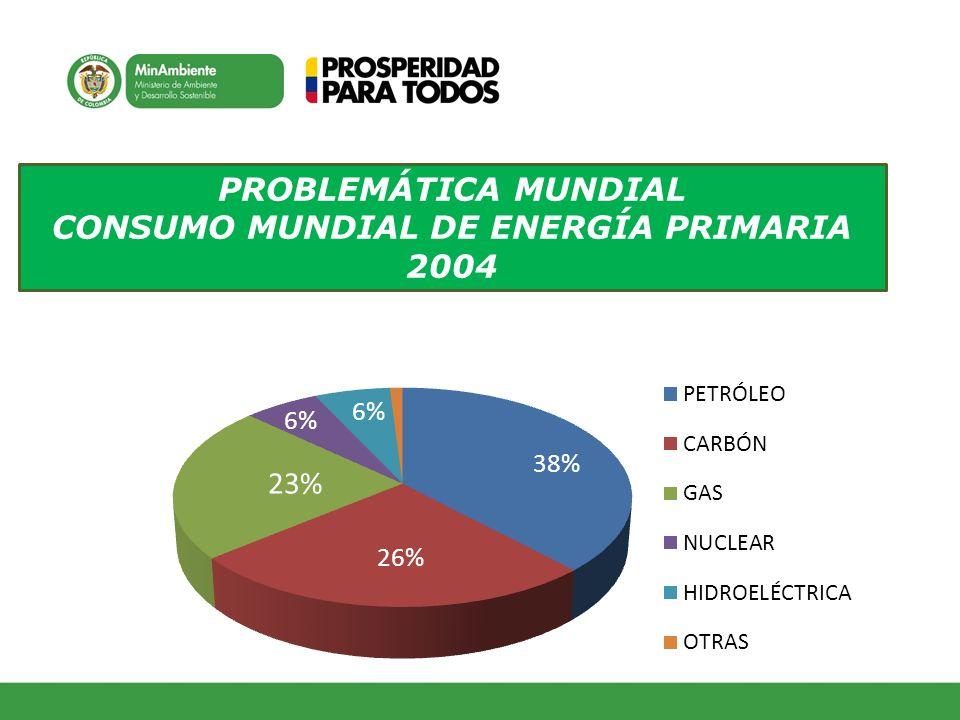 CONSUMO MUNDIAL DE ENERGÍA PRIMARIA 2004