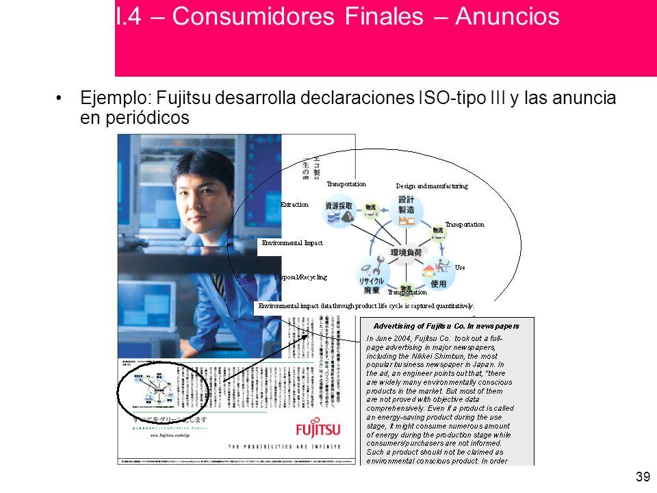 I.4 – Consumidores Finales – Anuncios
