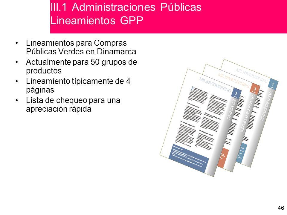 III.1 Administraciones Públicas Lineamientos GPP