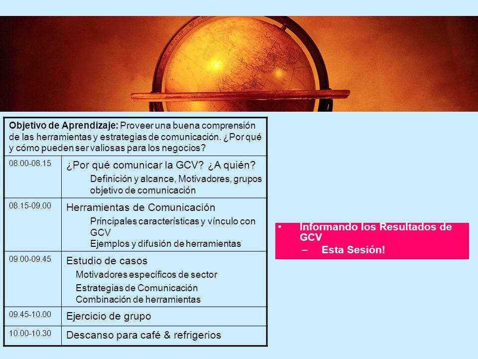 ¿Por qué comunicar la GCV ¿A quién