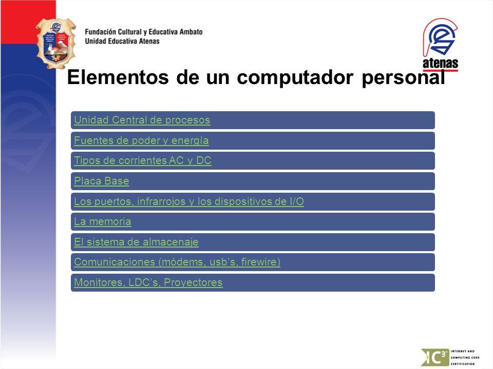 Elementos de un computador personal
