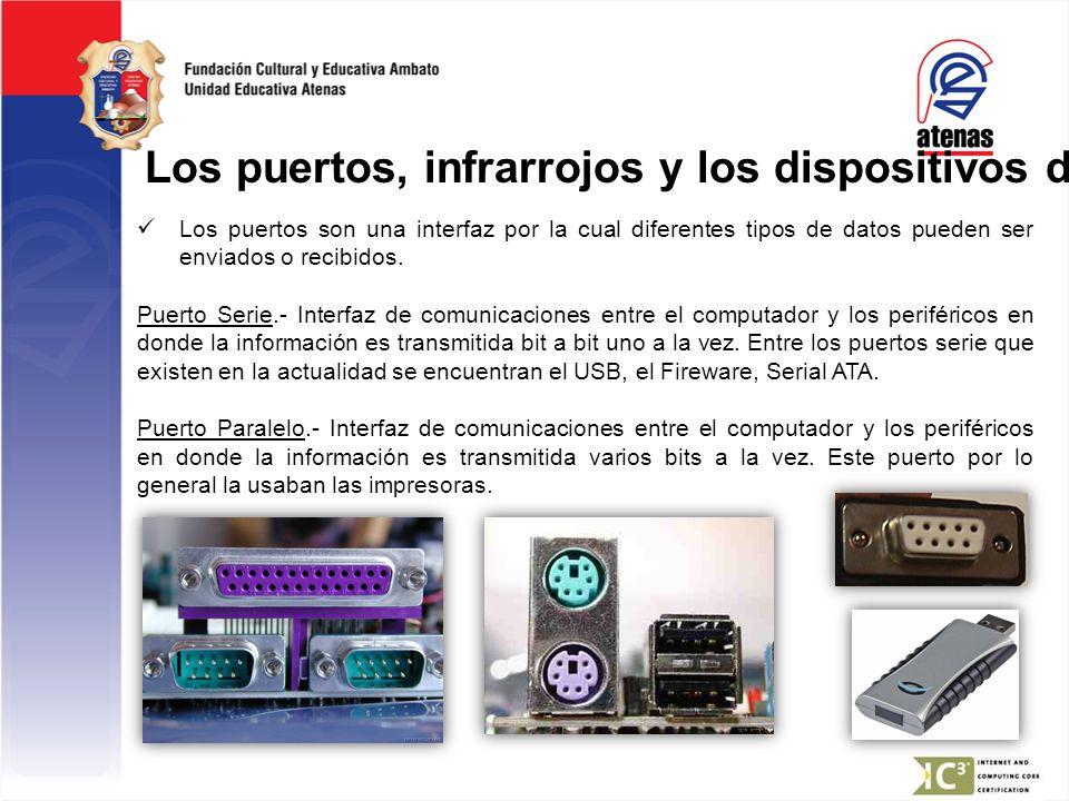 Los puertos, infrarrojos y los dispositivos de I/O