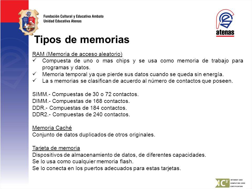 Tipos de memorias RAM (Memoria de acceso aleatorio)