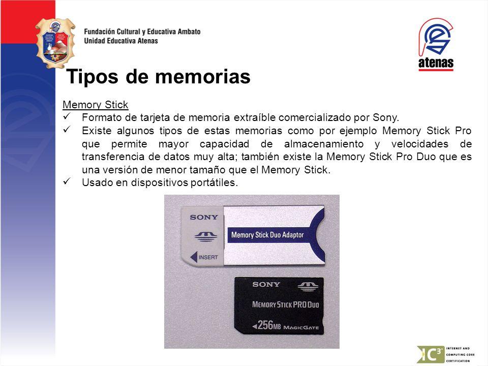 Tipos de memorias Memory Stick