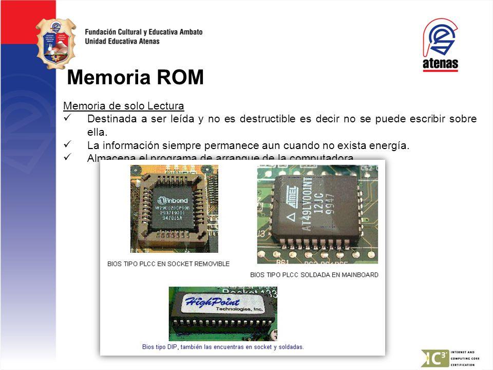 Memoria ROM Memoria de solo Lectura