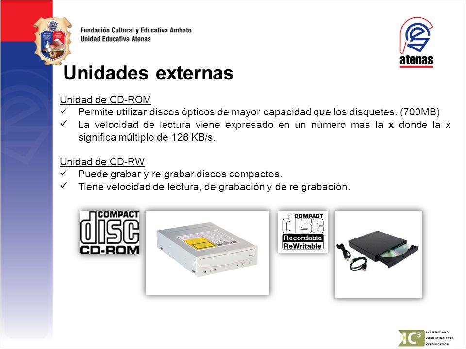 Unidades externas Unidad de CD-ROM