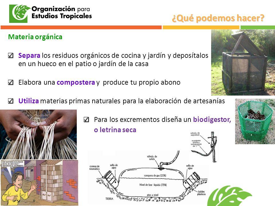 ¿Qué podemos hacer Materia orgánica
