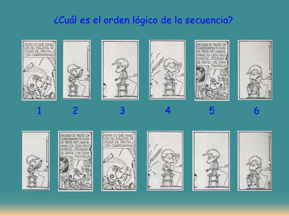 ¿Cuál es el orden lógico de la secuencia