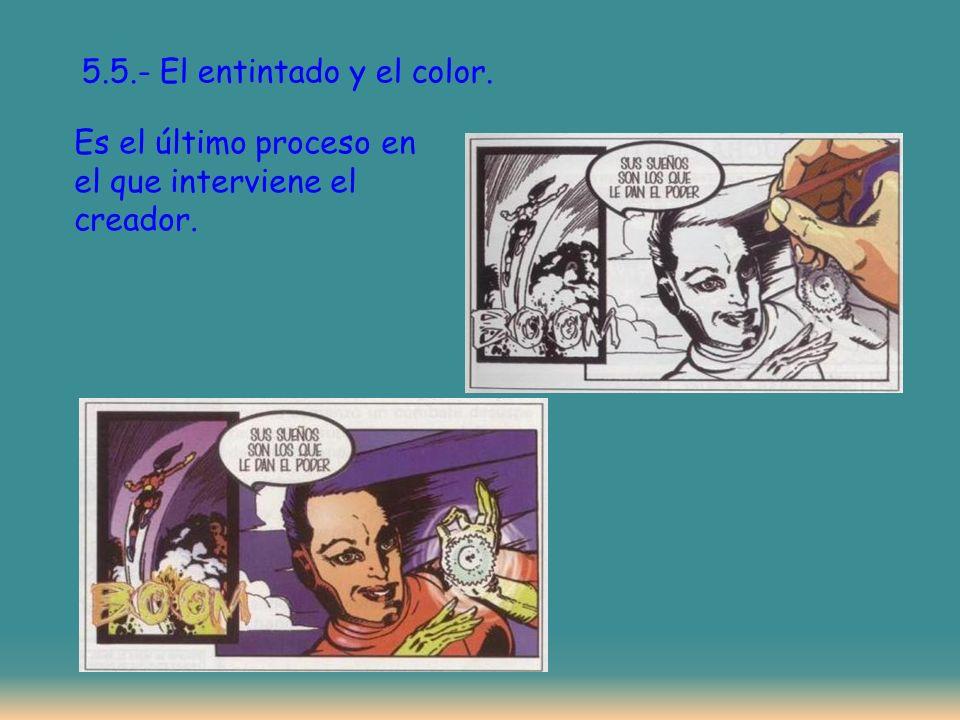 5.5.- El entintado y el color.
