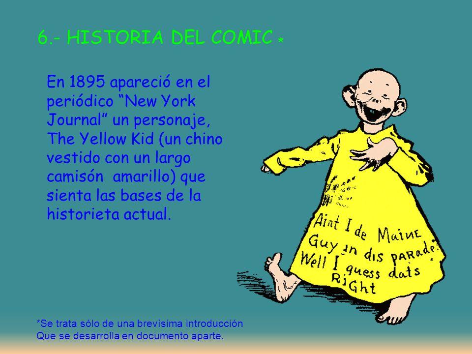 6.- HISTORIA DEL COMIC *