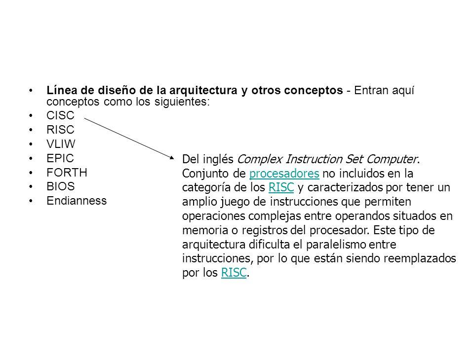 Línea de diseño de la arquitectura y otros conceptos - Entran aquí conceptos como los siguientes: