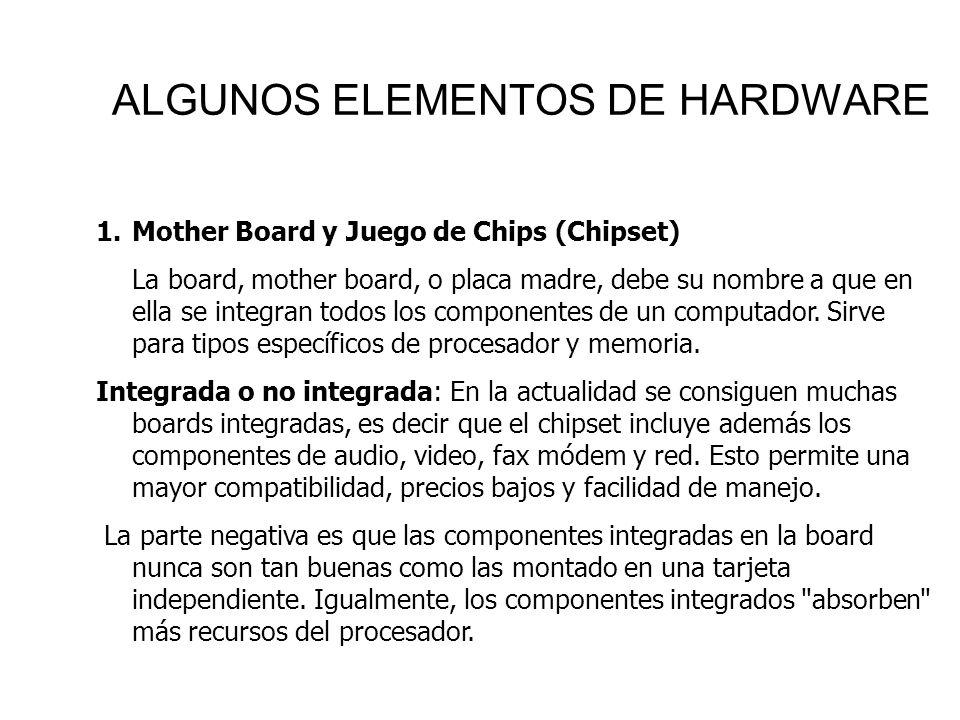 ALGUNOS ELEMENTOS DE HARDWARE