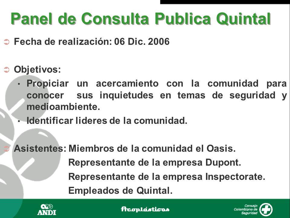 Panel de Consulta Publica Quintal