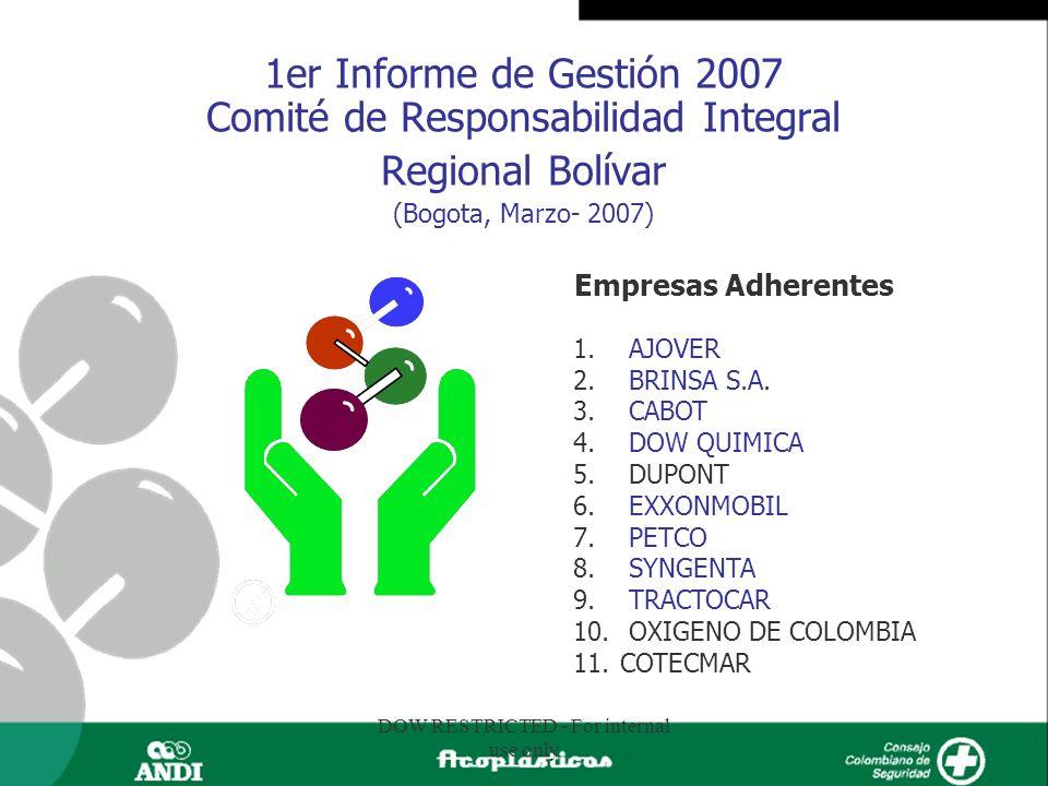 1er Informe de Gestión 2007 Comité de Responsabilidad Integral