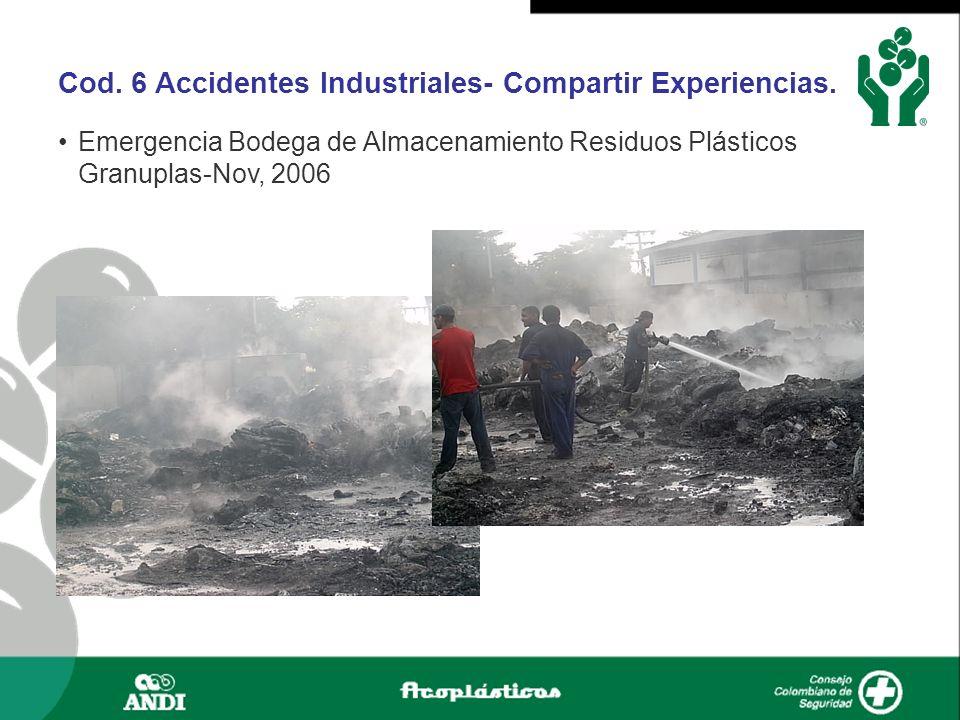 Cod. 6 Accidentes Industriales- Compartir Experiencias.