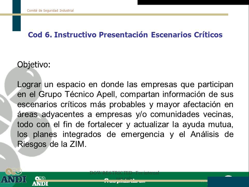 Cod 6. Instructivo Presentación Escenarios Críticos