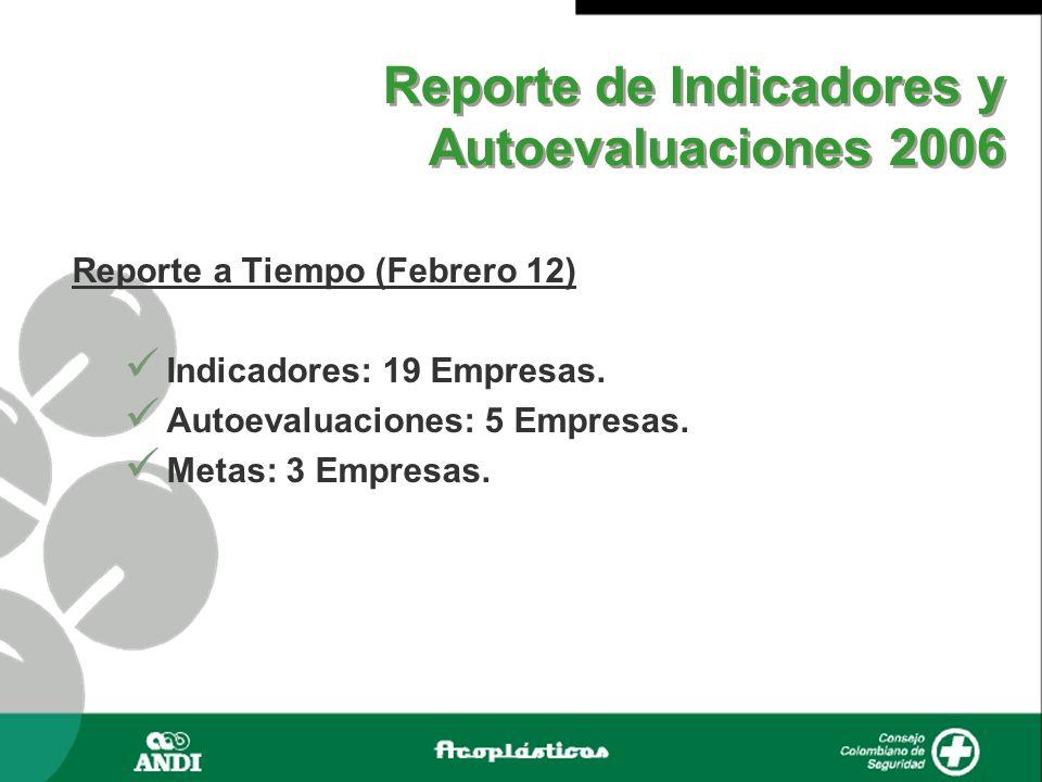 Reporte de Indicadores y Autoevaluaciones 2006
