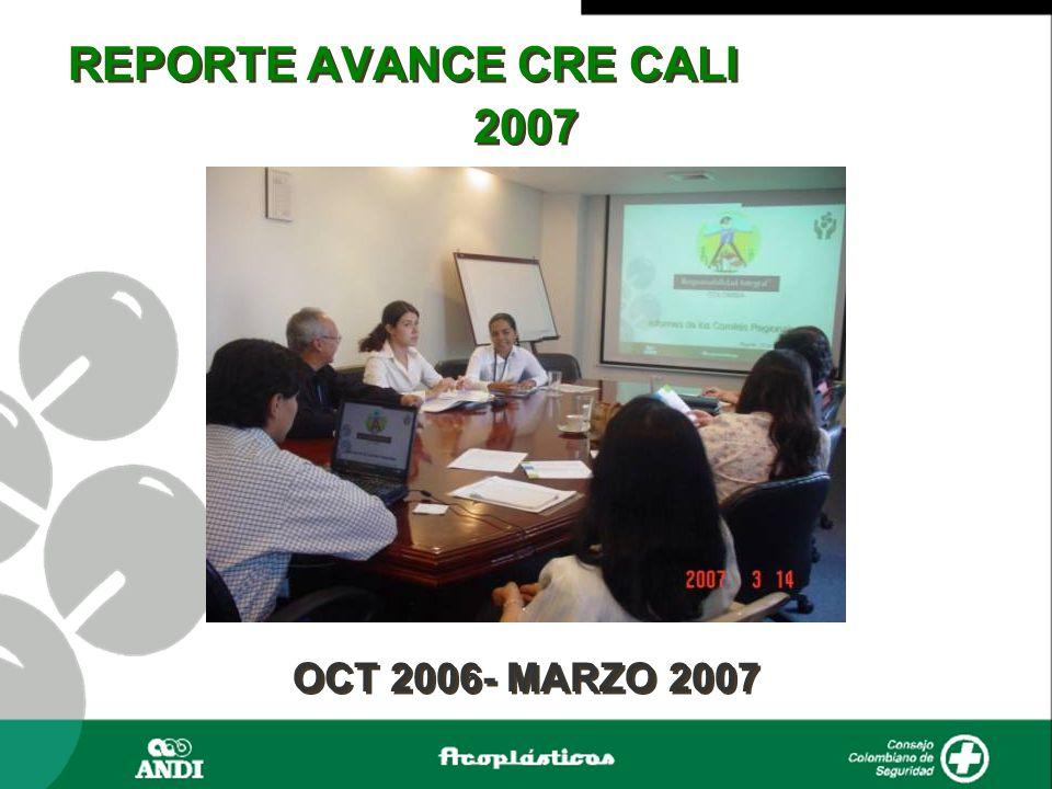 REPORTE AVANCE CRE CALI 2007