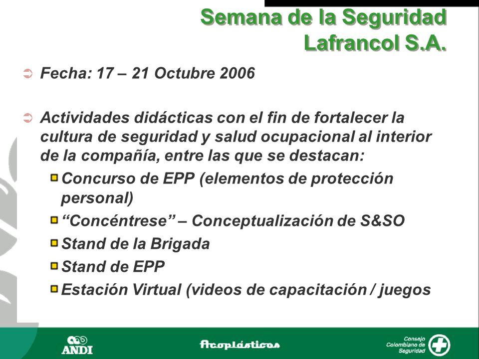 Semana de la Seguridad Lafrancol S.A.