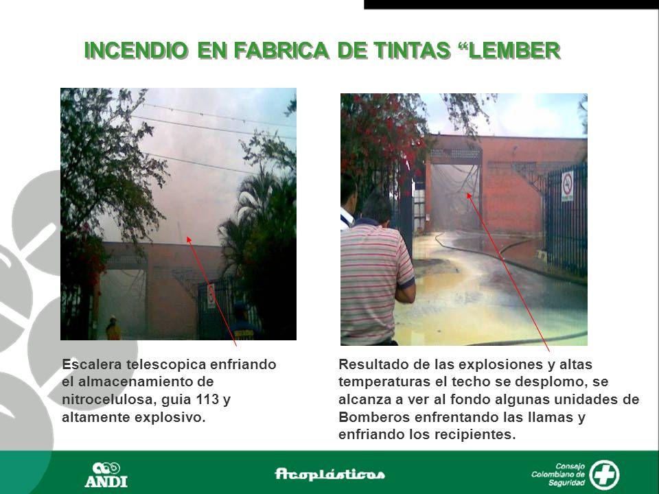 INCENDIO EN FABRICA DE TINTAS LEMBER