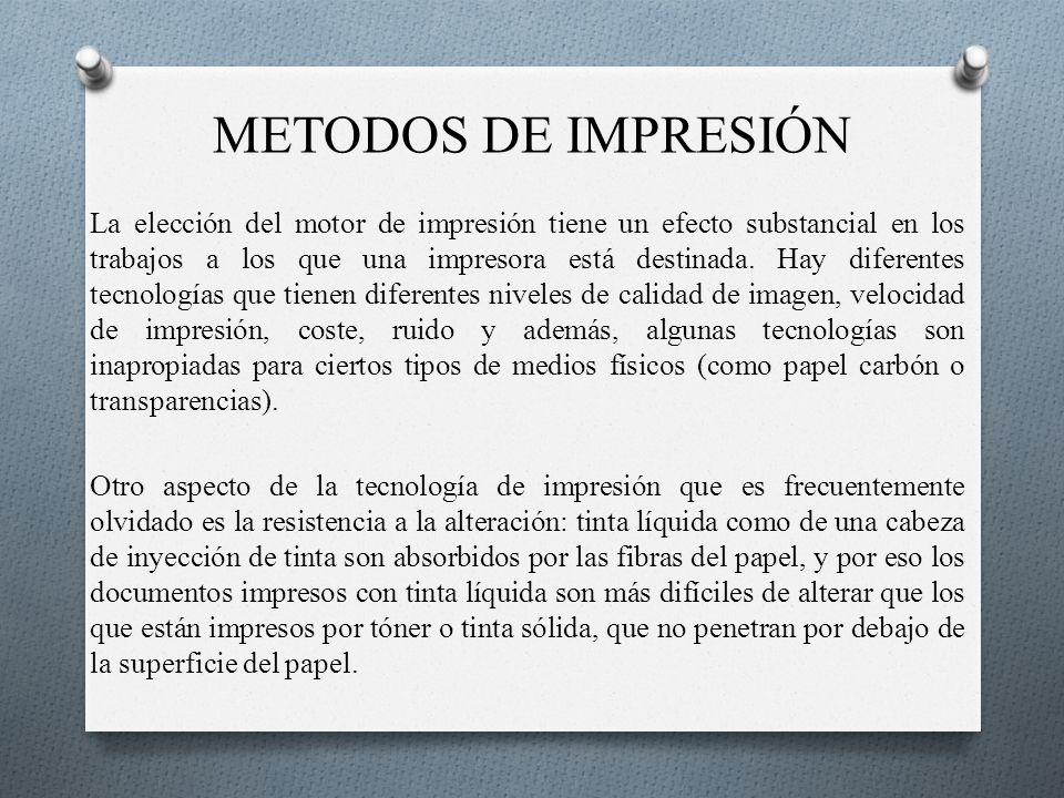METODOS DE IMPRESIÓN