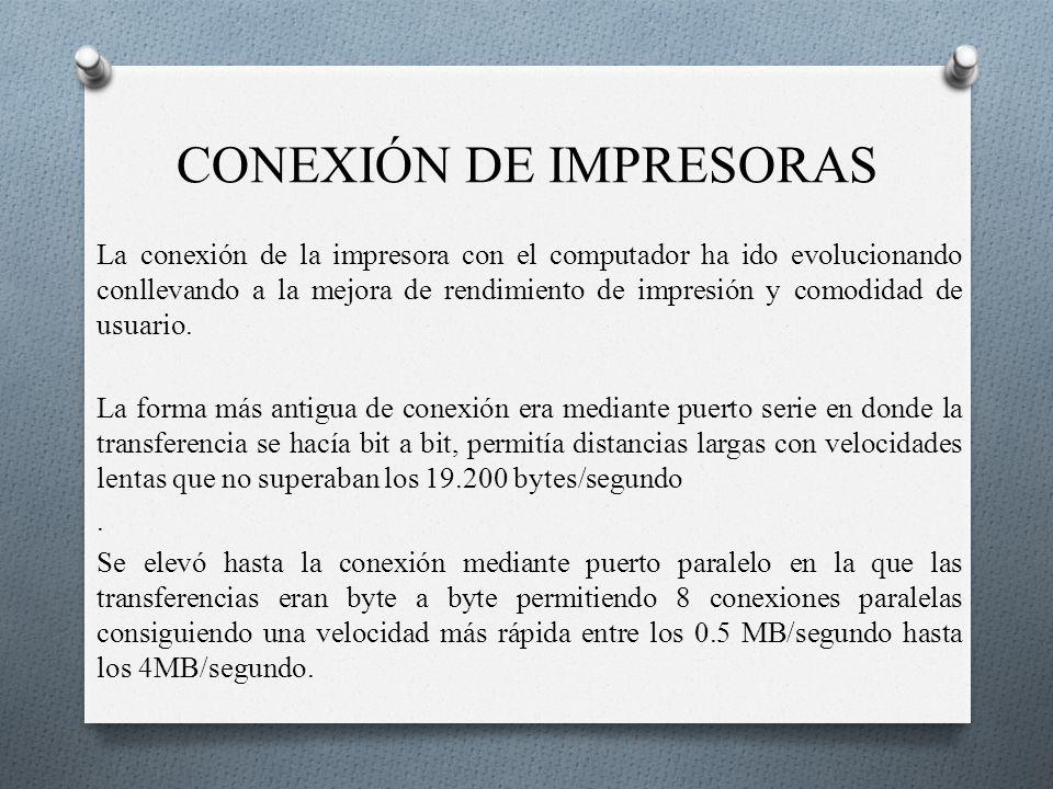CONEXIÓN DE IMPRESORAS