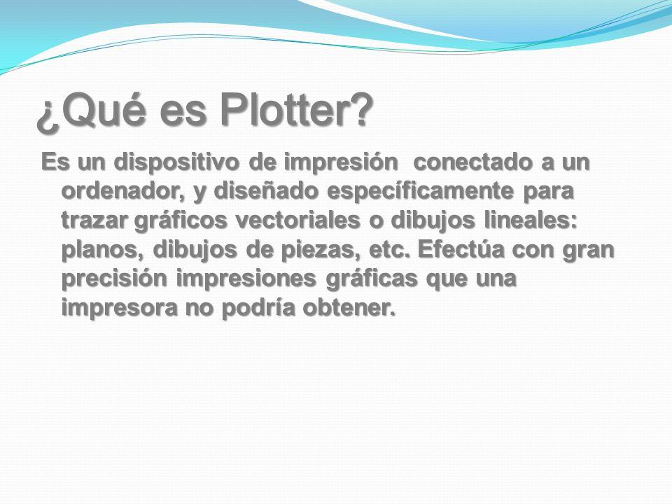 ¿Qué es Plotter