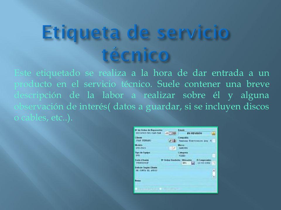Etiqueta de servicio técnico