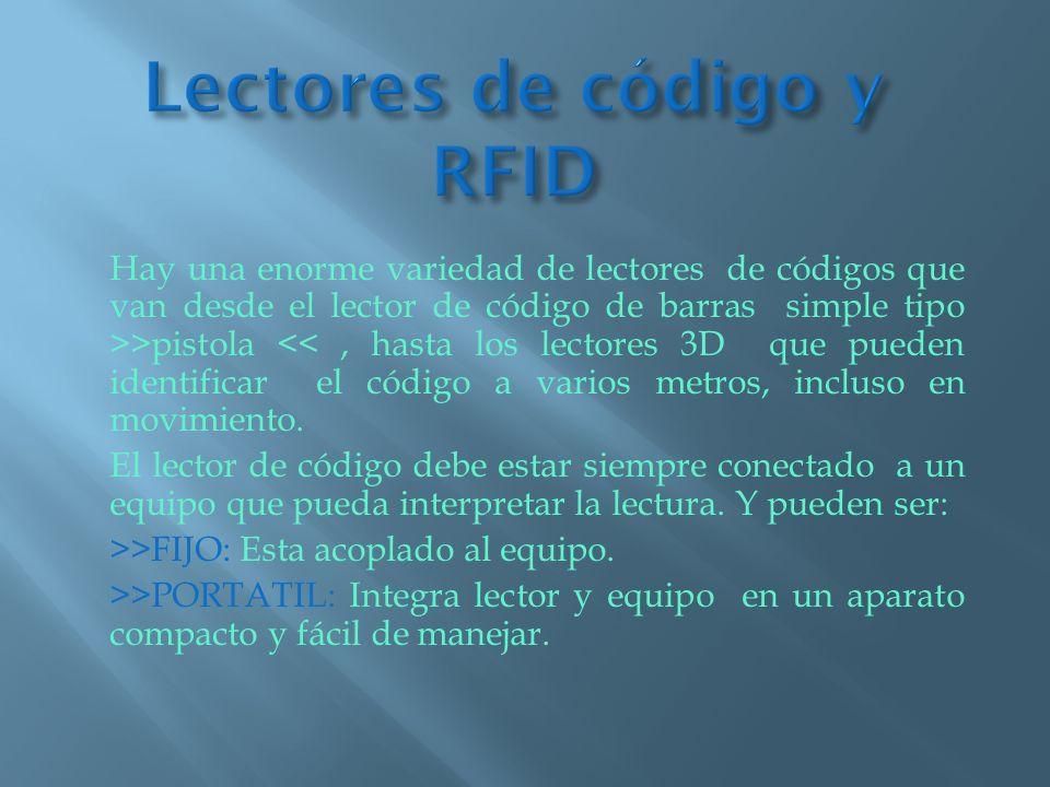 Lectores de código y RFID