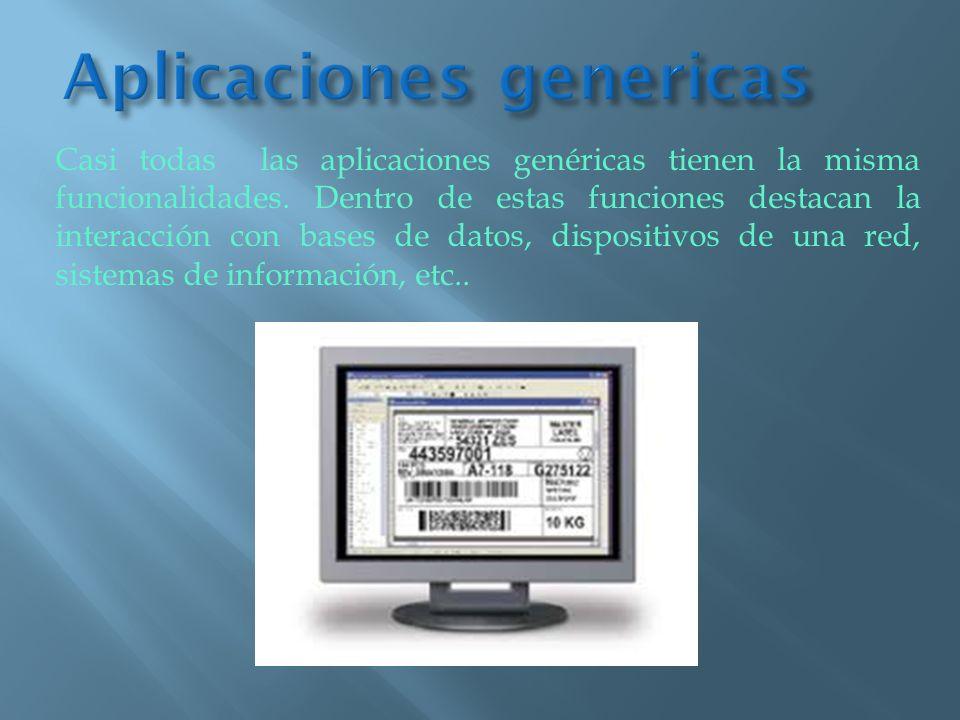 Aplicaciones genericas