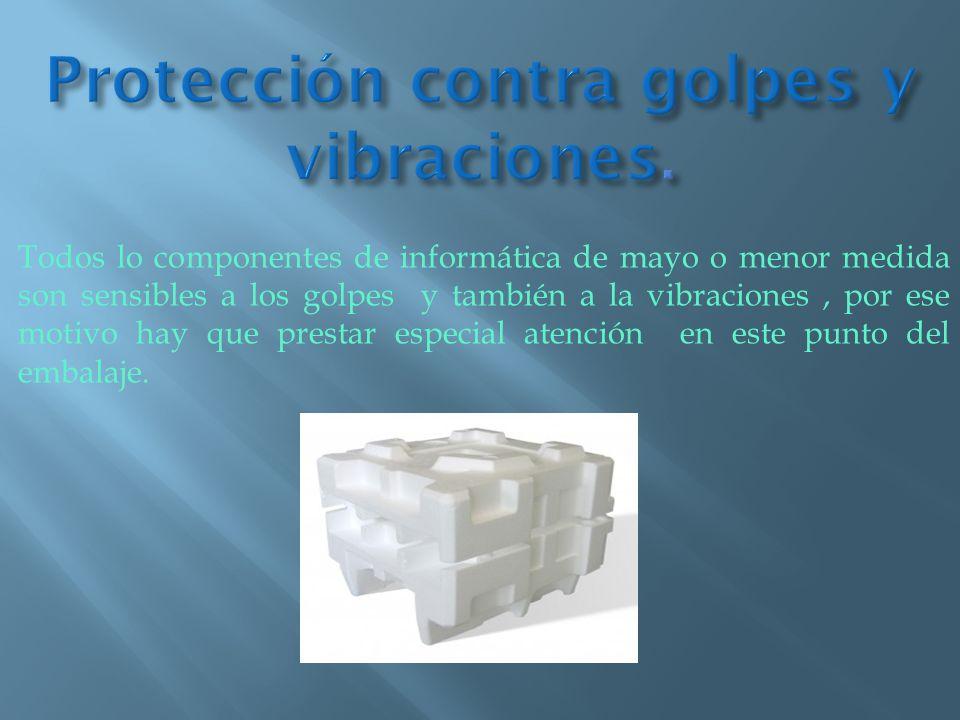 Protección contra golpes y vibraciones.